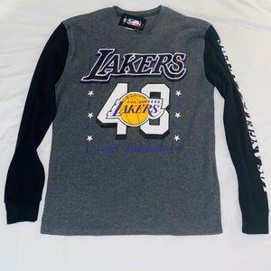 Los Angeles Lakers #48 NBA Gray Thermal Shirt Lrg